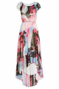 Philosophy di Lorenzo Serafini Printed Silk Chiffon Dress