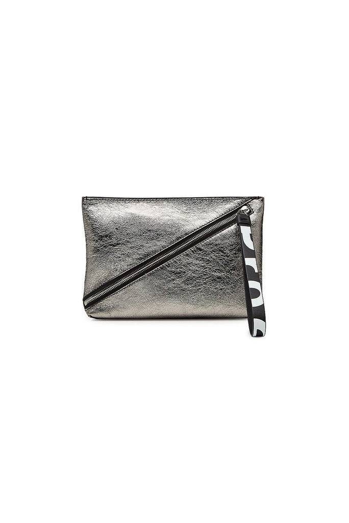 Proenza Schouler Zip Pouch Metallic Leather Clutch