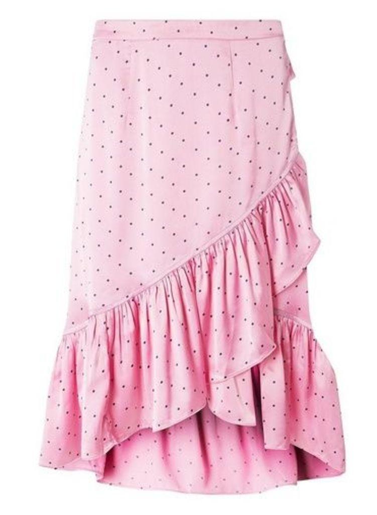 Womens **Vero Moda Multi Coloured Satin Spotted Skirt- Pink, Pink