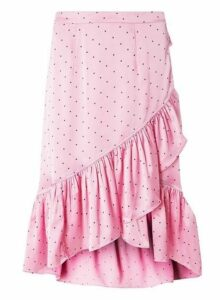 Womens **Vero Moda Multi Coloured Satin Spotted Skirt- Pink, Pink