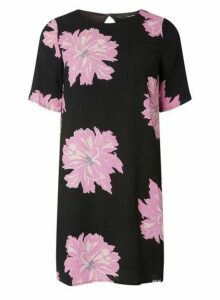 Womens **Vero Moda Black Printed Shift Dress- Black, Black