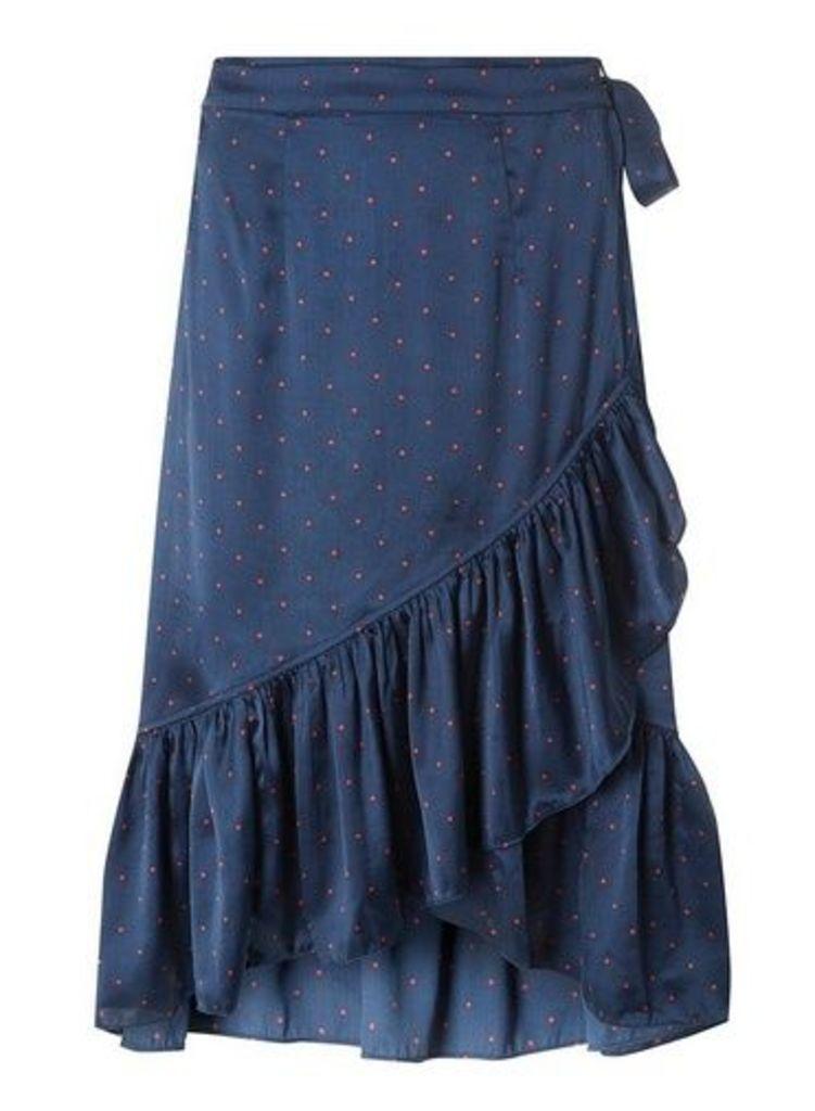 Womens **Vero Moda Multi Colour Satin Spotted Skirt- Multi Colour, Multi Colour