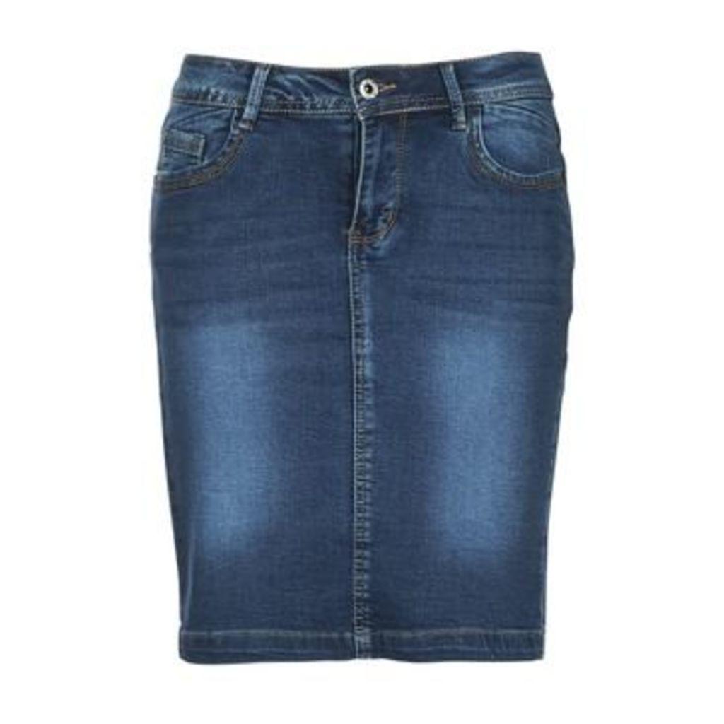 Yurban  IKOOL  women's Skirt in Blue