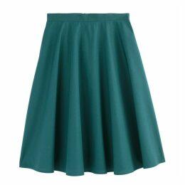 Poplin Flared Midi Skirt