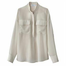 Silk Blouse with Breast Pockets