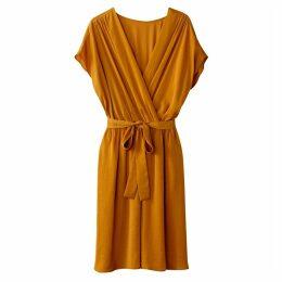 Kimono Wrap Style Dress with Tie Waist