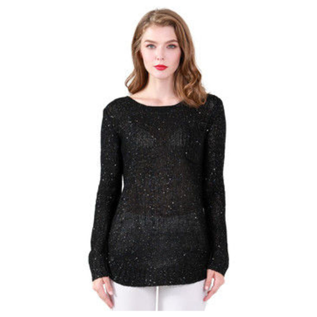 London Rag  Women's Long Sleeve Sequin Knit Sweater  women's Sweater in Black