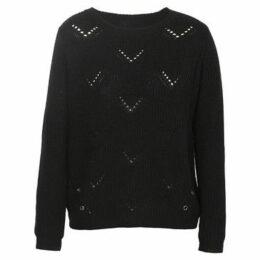 London Rag  Women's Full Sleeve Knitted Sweater  women's Sweater in Black