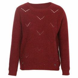 London Rag  Women's Full Sleeve Knitted Sweater  women's Sweater in Red