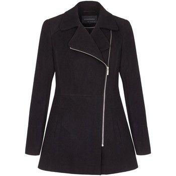 Anastasia  Short Zip Winter Jacket  women's Coat in Black