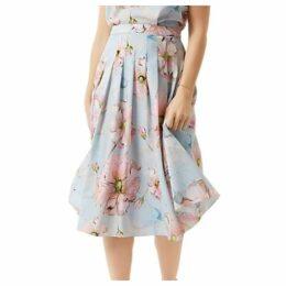 Fenn Wright Manson Petite Petunia Skirt, Blue Floral