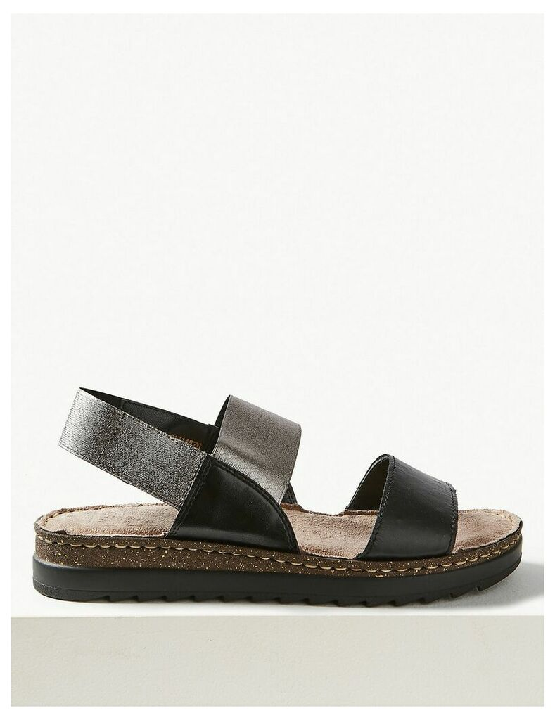 M&S Collection Leather Elastic Sandals