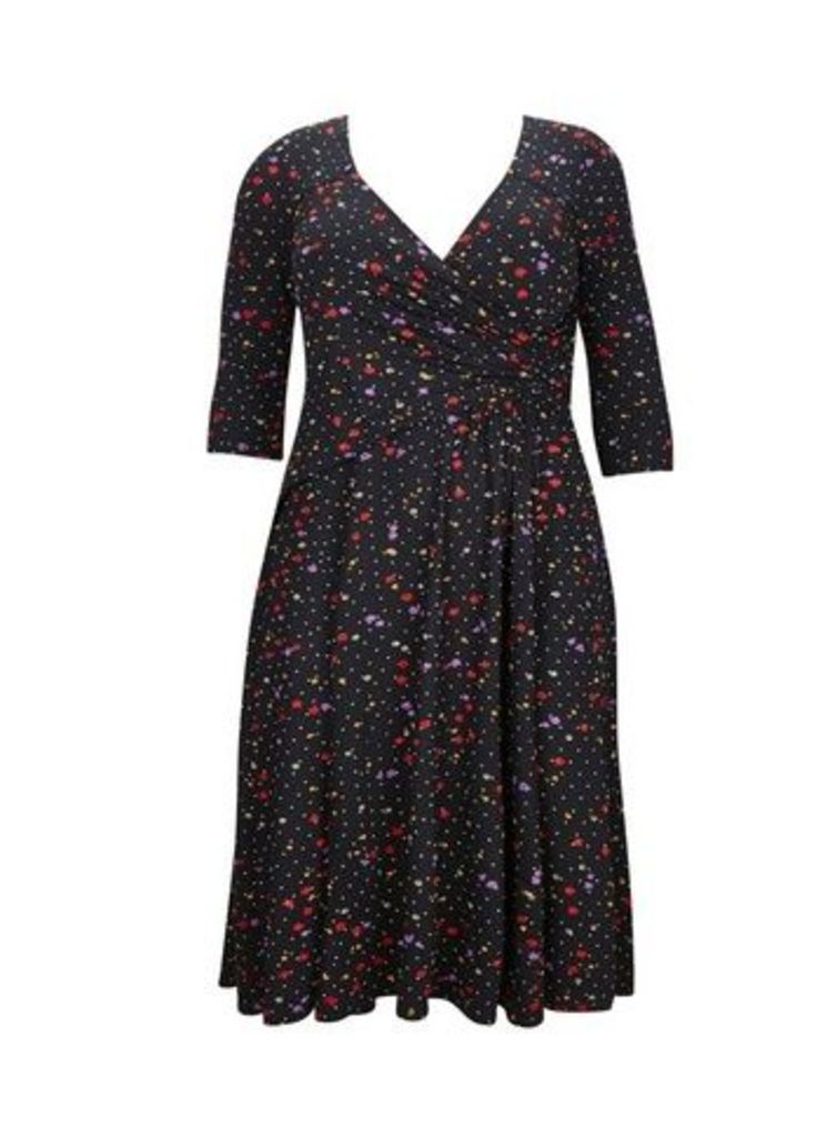 **Scarlett & Jo Ditsy Floral Wrap Jersey Dress, Others