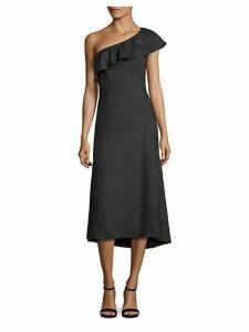 Evangeline Ruffled One-Shoulder Dress