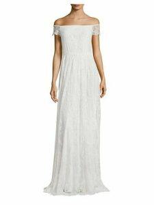 Aurelia Off-The-Shoulder Embellished Gown