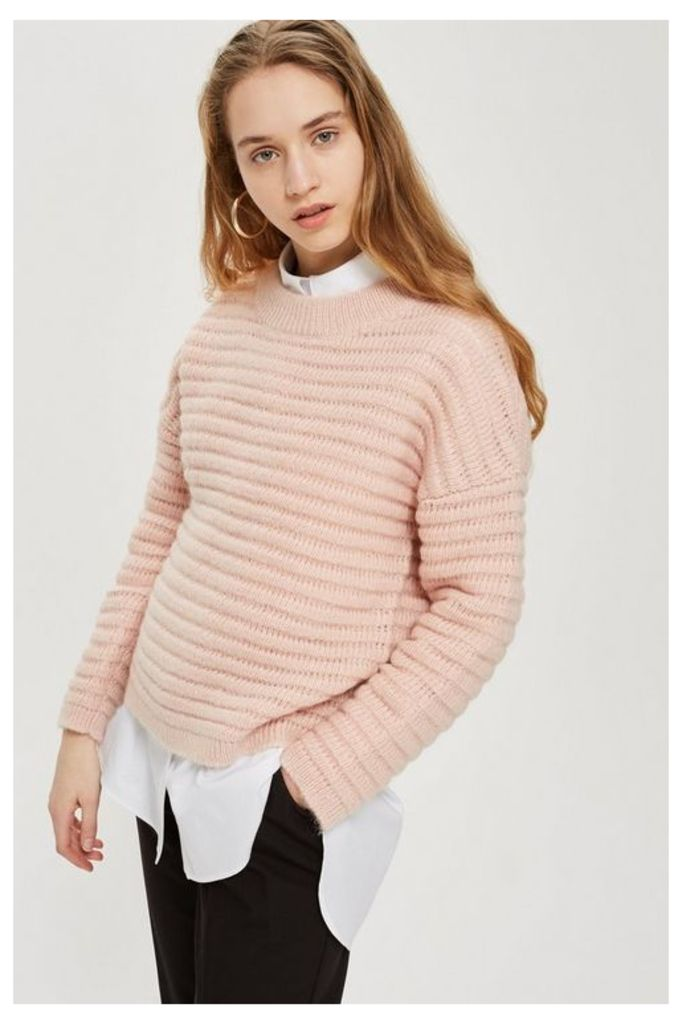 Womens **Knitted Jumper By Selected Femme - Pink, Pink