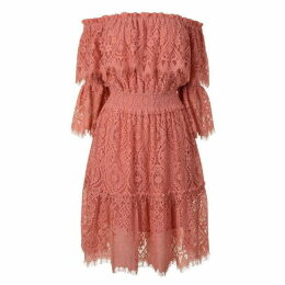 Perseverance London Lace Cold Shoulder Dress