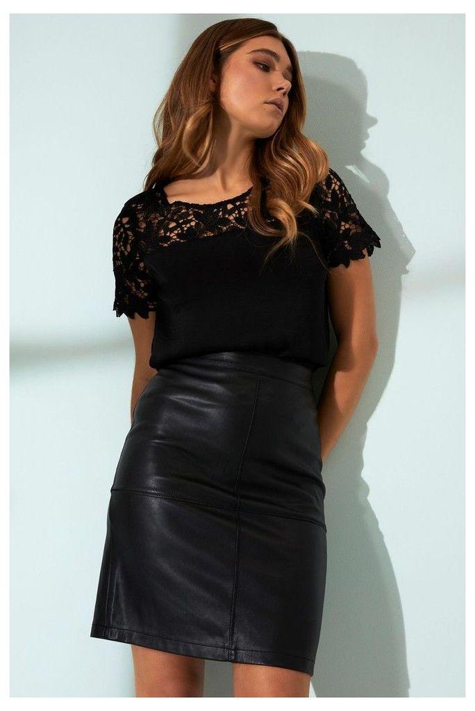 Womens Vila Pencil Skirt -  Black