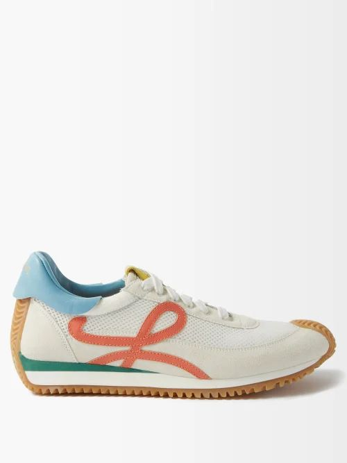 Richard Quinn - Floral Print High Neck Velvet Top - Womens - Blue Print