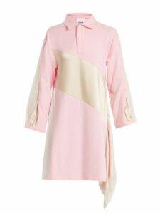 Koché - Lace Trimmed Oversized Cotton Shirtdress - Womens - Pink White