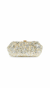 Santi Gold and Silver Jeweled Clutch