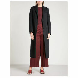 Marvil wool and silk-blend coat