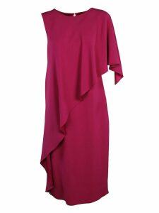 Alberta Ferretti Ruffled Front Dress