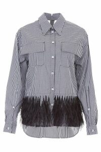 N.21 Gingham Shirt With Feathers