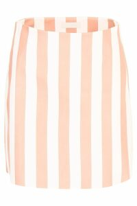 DROMe Striped Leather Skirt