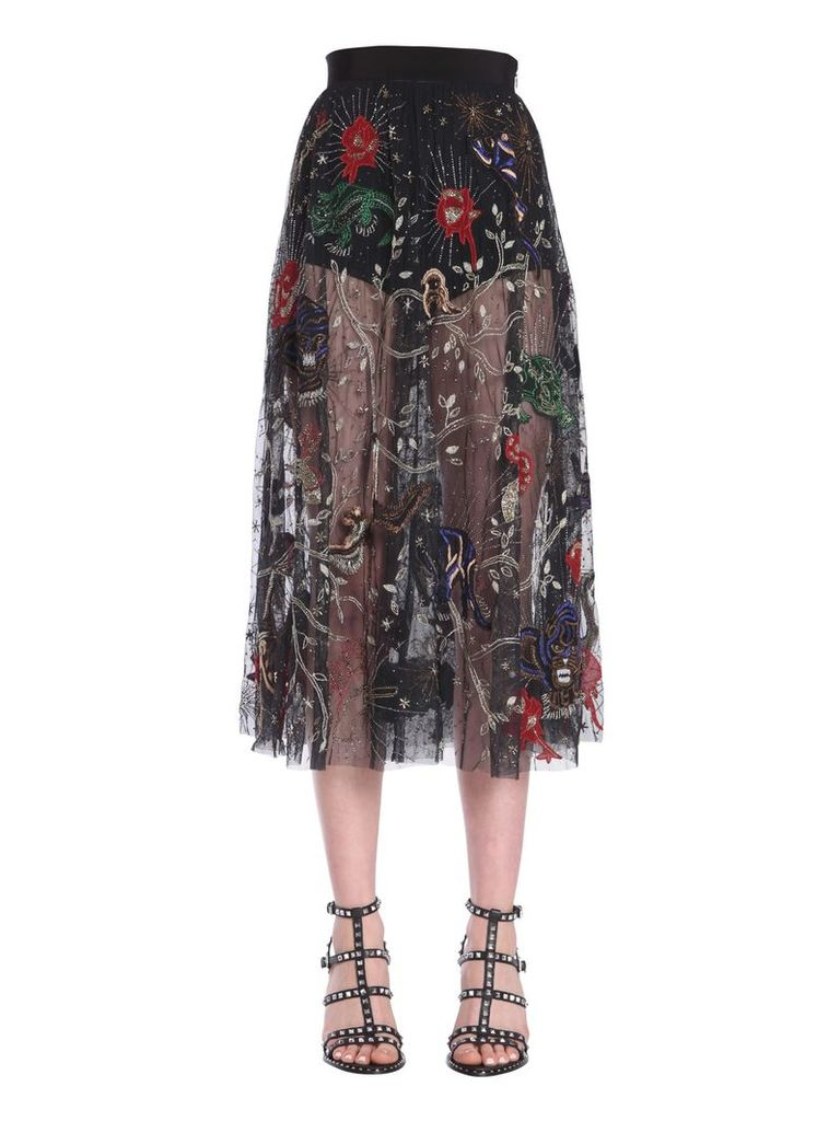Amen Embroidered Skirt