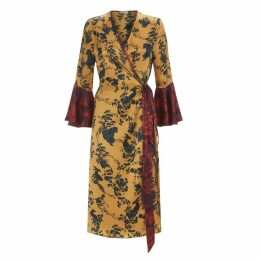 Klements - Netil Wrap Dress In Garden Puppets Print