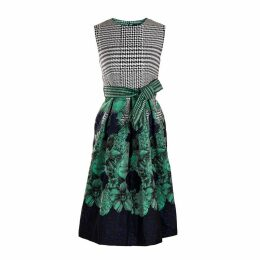 Emily Lovelock - Houndstooth Jacquard Dress in Green