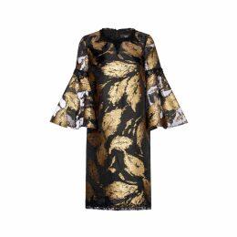 Nissa - Gold Printed Dress