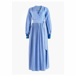 CoCo VeVe - Lilody Maxi Wrap Dress in Cotton Chambray
