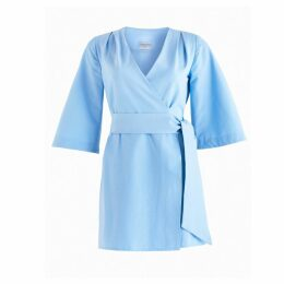 CoCo VeVe - Mary-H Wrap Dress Kimono In Pale Blue