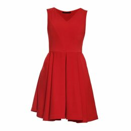 Philosofée by Glaucia Stanganelli - Red Stretch Crepe Austin Dress