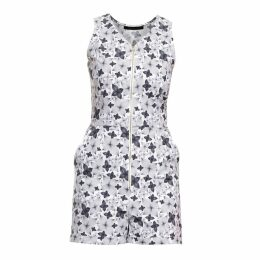 Philosofée by Glaucia Stanganelli - Charcoal Floral Print Romper Playsuit