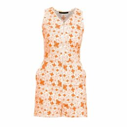 Philosofée by Glaucia Stanganelli - Burnt Orange Floral Print Romper Playsuit