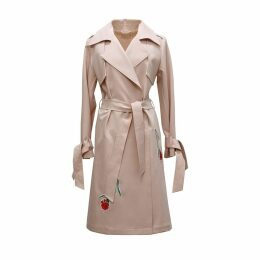 Tomcsanyi - Embroidered Trench Coat Blush