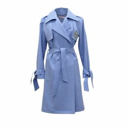 Tomcsanyi - Embroidered Trench Coat Blue