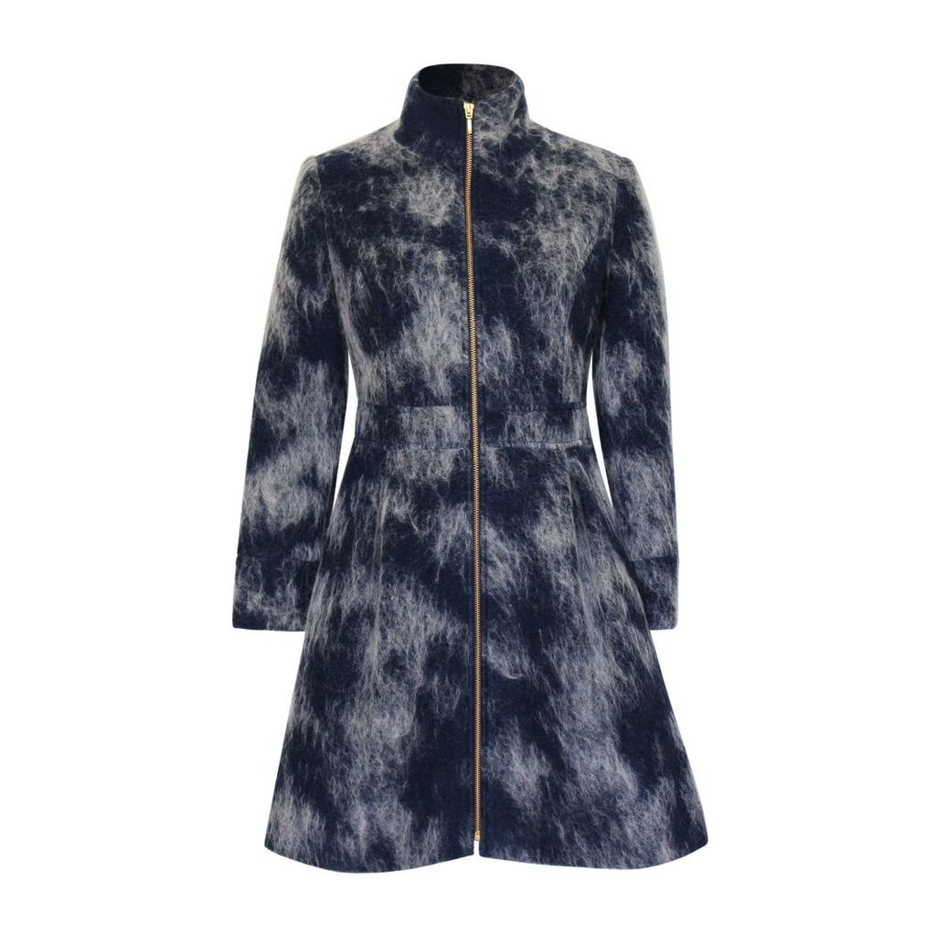 Philosofée by Glaucia Stanganelli - Mohair Wool Coat Navy