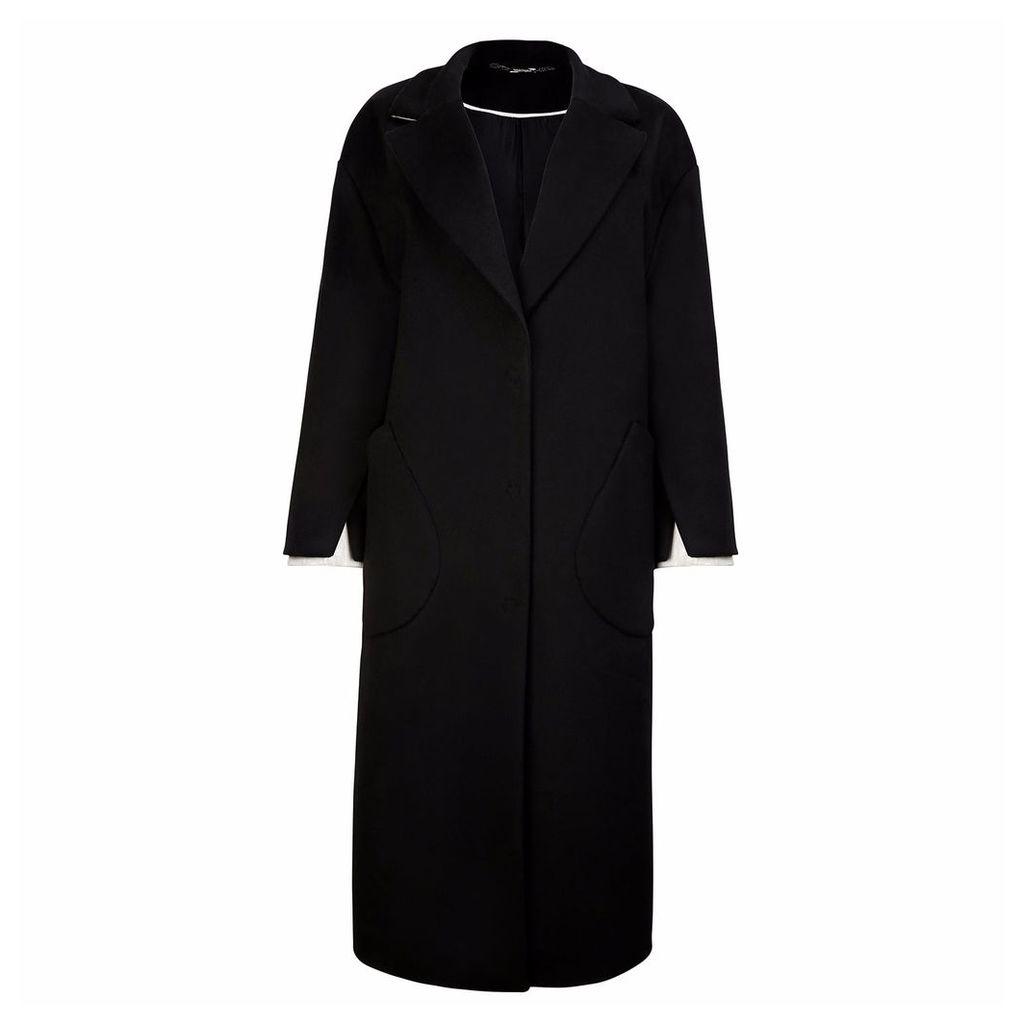 Vols & Original - Cashmere & Leather Oversized Coat Mono