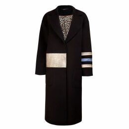 Vols & Original - Cashmere & Leather Oversized Coat Gold Dust