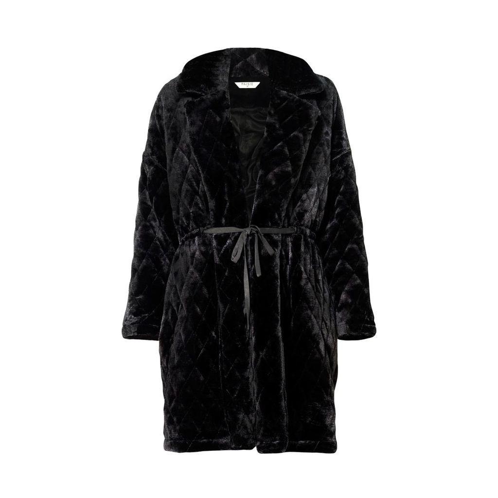 PAISIE - Quilted Fur Coat
