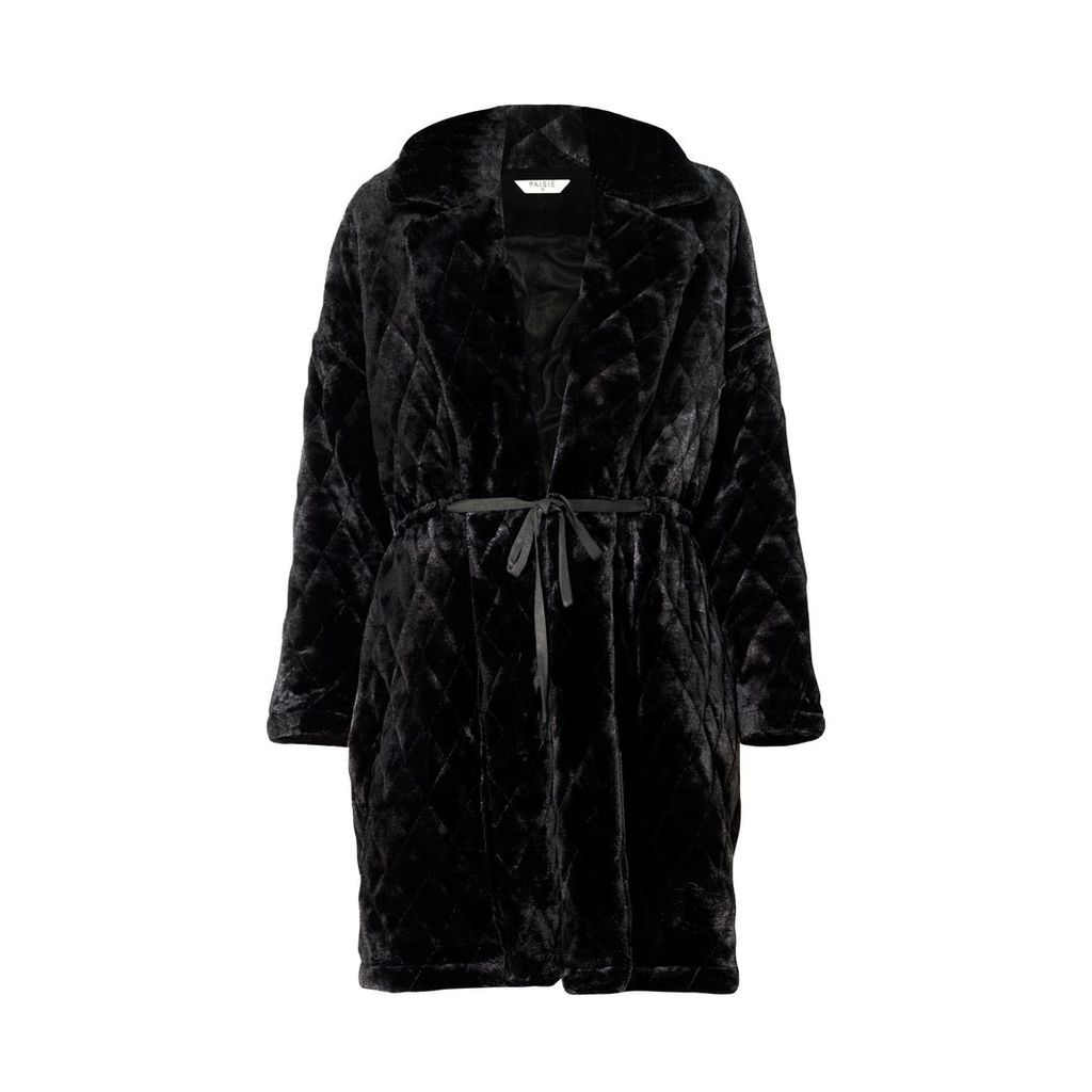 PAISIE - Quilted Fur Coat