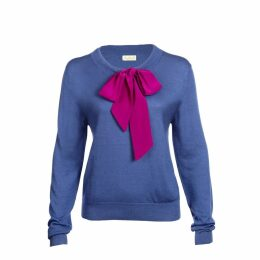 Asneh - Helen Sweater with Silk Pussy-Bow