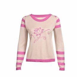 Asneh - Lotus Sweater Nimbus Cloud & Pink