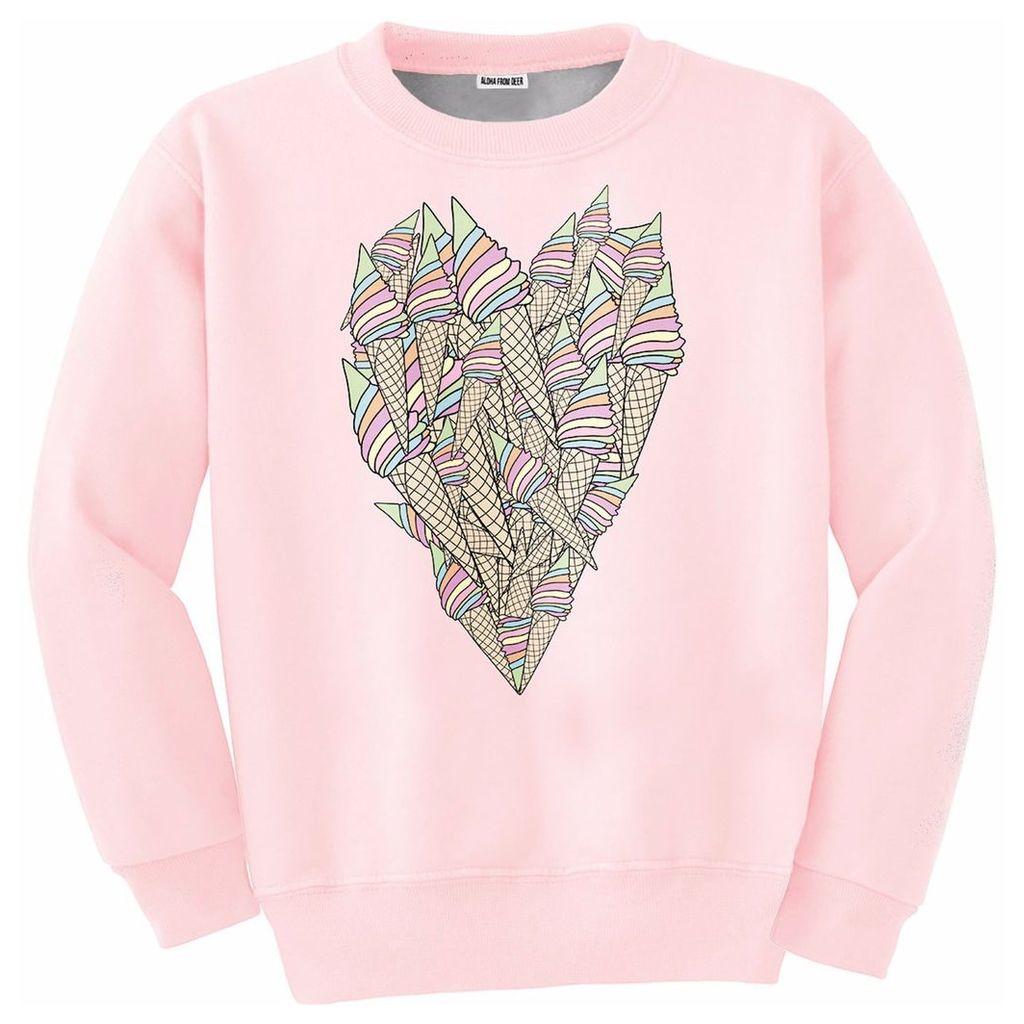 Aloha From Deer - Ice-Cream Heart Sweater
