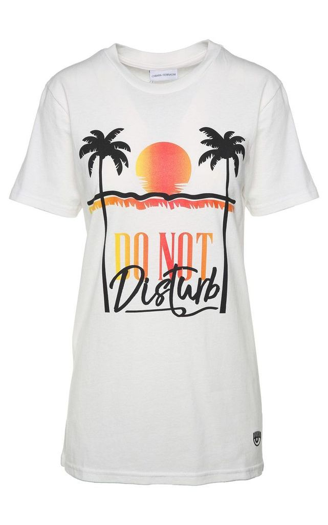 Chiara Ferragni Do Not Disturb Cotton-jersey T-shirt