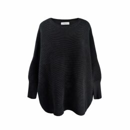 PAISIE - Ribbed Jumper With Side Splits In Black